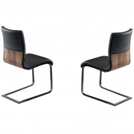 Zenith Black Side Chair (Set Of 2)